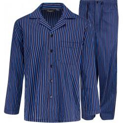 Pijama de rayas azules
