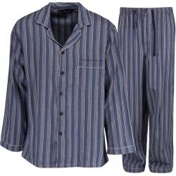 Pijamas de franela Ambassador - Azul / Gris
