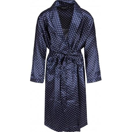 Ambassador bata de satén - Azul