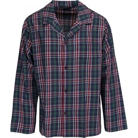 Schiesser pijamas para hombres - a cuadros verde