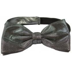 Corbata de lazo color plata