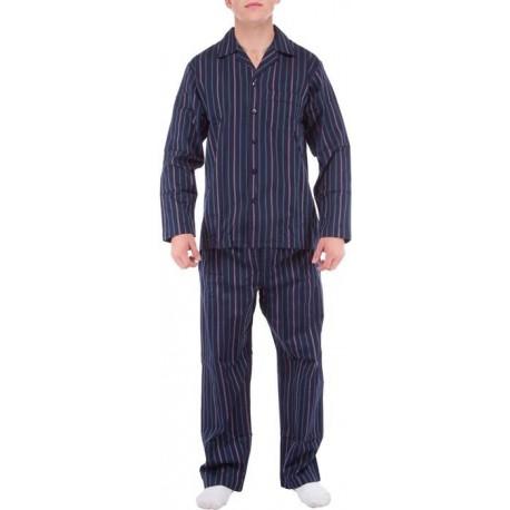 Pyjamia Pantalon de pijama hombre rayas azul y blanco