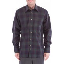 Camisa a cuadros de lana