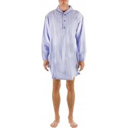 Camisón azul de rayas